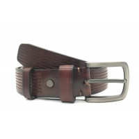 China 1.5 Inch Man Pin Buckle Casual Genuine Leather Retro Belts on sale