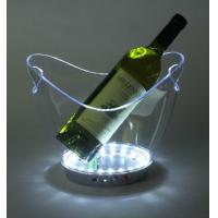 Buy cheap Wholesale plastic flexible champagnes Led ice bucket wine buckets L27*W20*H22CM from wholesalers