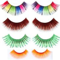 Buy cheap Hot! Black colorful customized packaging false eyelash extensions from wholesalers