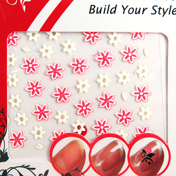 Quality DIY nail decals , 3D Flowers Nail decal , Printing nail stickers for sale