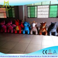 China Hansel fiberglass body mini carcommercial kid rides indoor playground business plan kids animal scooter rides on sale