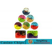 China Security Promotional Casino Poker Chips With Smooth And Delicate Texture for sale