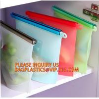 China Refrigerated Cooler Reusable Silicone Food Bag, Preservation Storage Container Airtight Seal Cooking Bag bagease package wholesale