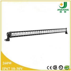 China Single row 4x4 offroad 12 volt car led light bar 260W offroad led light bar wholesale