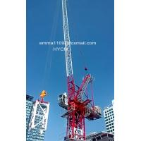 China 8tonnes 165ft Luffing Jib Tower Crane 50m Working Arm Full VFD Control on sale