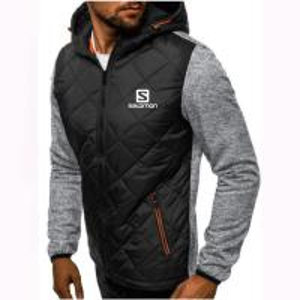 China Hoody Spliced Jacket Salomon Print Men Hoodies Sweatshirts Casual Coat Hooded Zip Cardigan Plus Fleece Clothes on sale