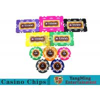 China Embedded Feel Casino Poker Chip Set With Environmental Protection Materials wholesale