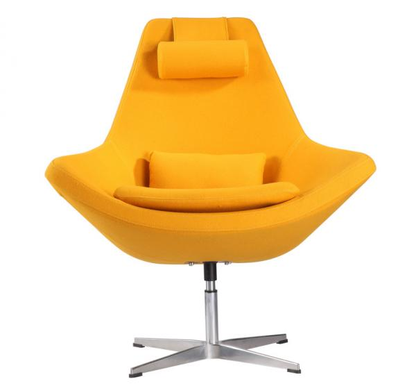 Quality Metropolitan Relaxing Hotel Lounge Chairs, Fabric Upholstered Swivel Leisure Chairs for sale