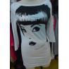 China Ladies Three Quarter Length Sleeve T Shirts , White Stylish Long Tops Custom Size wholesale
