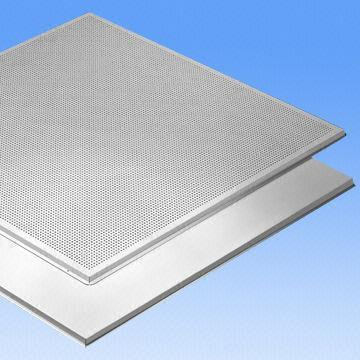 Quality Fireproof False Aluminum Ceiling Tiles/Acoustic Panels with 0.5 to 1.2mm Thickness for sale