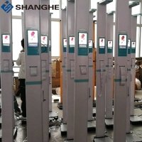 China Smart Voice 200kg Clinics Ultrasonic Height And Weight Machine wholesale