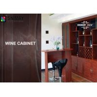 China Laminate Design Wood Wine Cabinet With Glass Door , Louver Door on sale