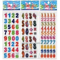 China Colorful education custom puffy stickers , EVA number puffy sticker for kids on sale