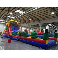 China Huge Interactive Challenge Blow Up Obstacle Course Bounce House Aqua Park wholesale