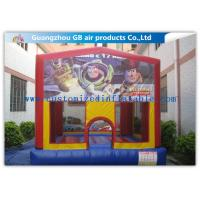 China Mini Printing Inflatable Bungee Jumping Bouncer , Inflatable Bouncy Castle Toy wholesale