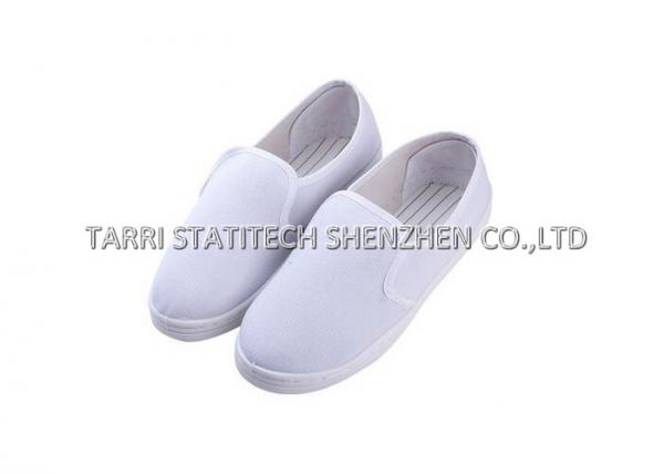Quality PVC / SPU Sole ESD Shoes / light weight Womens Safety Shoes with Dark blue / white color for sale