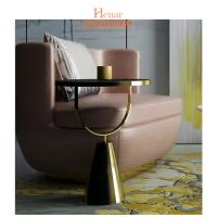 China Metal Small Narrow Short Movable Sofa Snack Side End Table Eco-Friendly wholesale