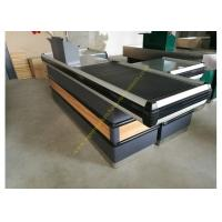 Quality Supermarket Checkout Counter With Conveyor Belt for sale