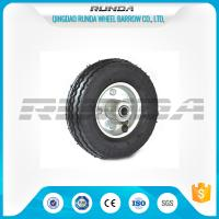 China Bent Valves Pneumatic Rubber Wheels 6 Inches Roller Bearing For Hand Trolley wholesale