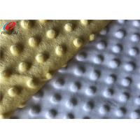 China 100% Polyester Minky Plush Fabric 1mm Pile Height Minky Dot Fabric For Baby Packs wholesale