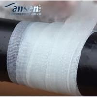 China ANSEN white black Oil & gas resistant fiberglass pvc pipe repair armor wrapping tape waterproof high strength wholesale
