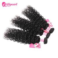 China Natural Wave Brazilian Curly Hair Bundles , Soft Brazilian Human Hair Weave wholesale