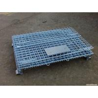 China Galvanized Foldable Wire Mesh Security Cage , Warehouse Wire Storage Cages wholesale