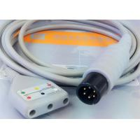 China Gray Color 3 Lead Ecg Monitor Cable Excellent Compatibility CE Ul Iso on sale