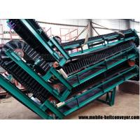 China Large Loading Capacity Mobile Conveyor Belt System With Corrugated Sidewall on sale