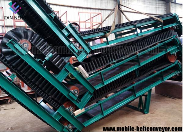 Quality Large Loading Capacity Mobile Conveyor Belt System With Corrugated Sidewall for sale