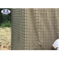 MIL 4 Hesco Baskets Explosion Proof Wall For Galvanized Army Training
