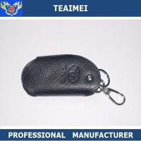 China Customs Car Logo Black Leather Key Pouch Cover For Decoration wholesale