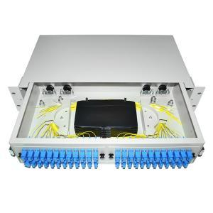 China Dustproof LC SC 19' Rack Mount Fiber Terminal Box Enclosure Fiber Distribution Patch Panel wholesale
