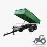 3TR4WM - 4wheels small tractor trailer dump trailer with moto 3Ton