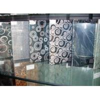 China Clear Tempered Silkscreen Printed Glass 5mm 6mm 8mm For Transom Window wholesale