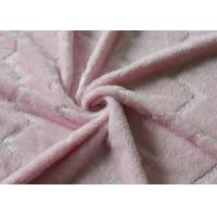 China 5mm Bright Silk Flannel Fleece Fabric Pink Color Skin Friendly wholesale
