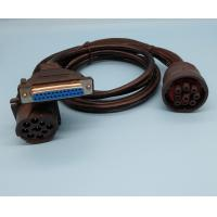 China Deutsch 9-Pin J1939 Female to DB25P Female and J1939 Male Splitter Y Cable wholesale