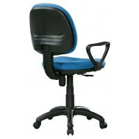 China Economic High Back Fabric Office Chairs With Arms And Wheels PP FOOT wholesale