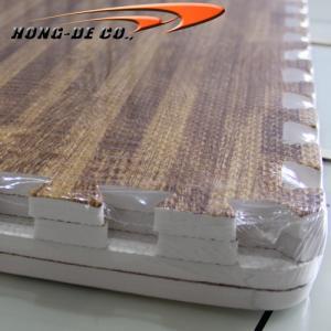 China D.Oak Soft Wood Floor Tiles - EVA foam softer , safety passing EN71,REACH, Formamide wholesale