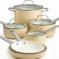 China Non-stick Cookware Set with Saucepan and Heavy-gauge Aluminum, Oven Safe wholesale