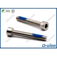 China 304/316/18-8 Stainless Steel Socket Head Cap Nylon Patch Self-locking Screws wholesale