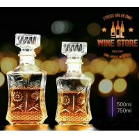 China Stock Glass Decanters Whiskey Glass Bottle Sets 500ml For Drinking Bar Shop on sale