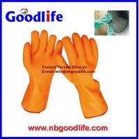 China sandy long pvc gloves with long sleeve wholesale