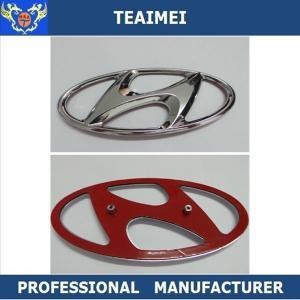 Quality Chrome Hyundai Front Hood Grille Custom Car Emblems Badges / 3D Car Logo for sale