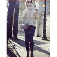 China Gray Long Sleeve Turtleneck Pullover Women Fall Winter Warm New Design Loose Casual Cable Knitted Sweater on sale