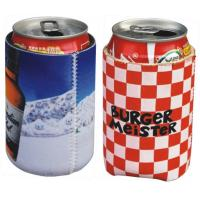 China Neoprene can cooler sleeve pouch,Neoprene Coke can skin case, sublimation full color print wholesale