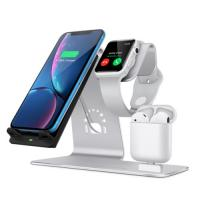 China Wireless Charger Adjustable Stand Holder 3 In 1 Desktop Charging Stand Station on sale