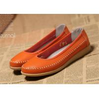 China New design Flat shoes women natural leather ladies flats soft shoes wholesale