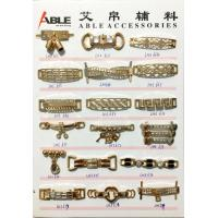 China Custom Brushed Gold Zinc Alloy Buckle Chains For Ladies Shoe Spare Parts wholesale