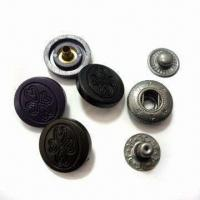 China 4-part Snap Fasteners, OEKO-TEX- and CPSIA-standard, Made of Polyester, with Logo wholesale